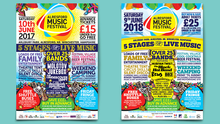 Alresford Music Festival Adverts