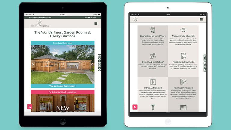 Crown Pavilions Website