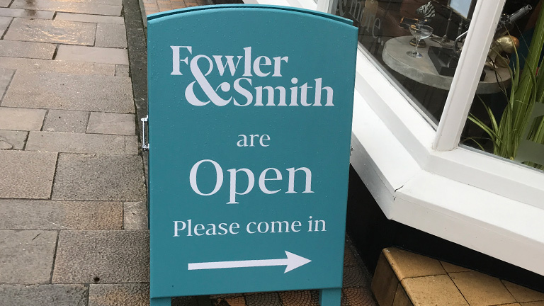 Fowler & Smith A-Frame Sign