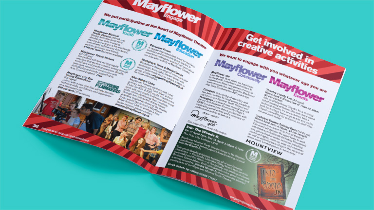 Mayflower Theatre What's On Brochure Engage Spread