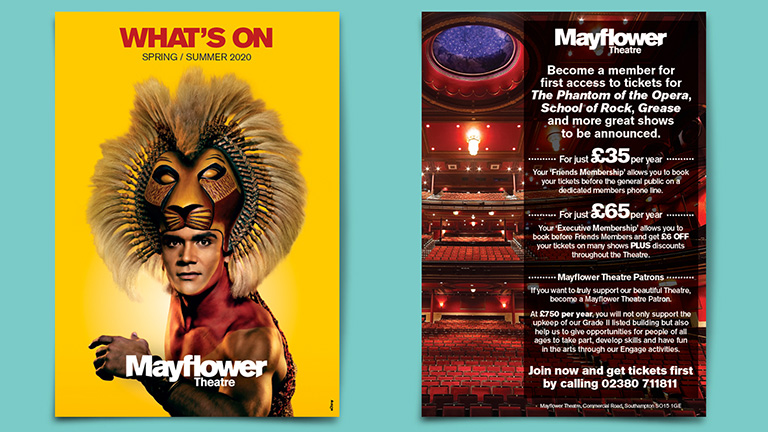 Mayflower Theatre What's On March Brochure