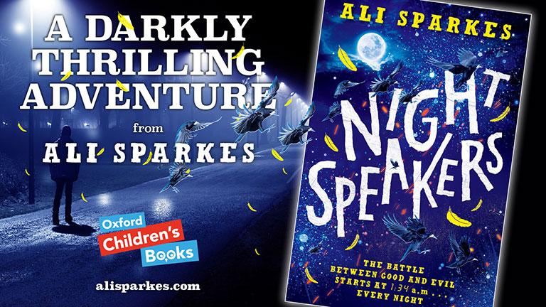 Ali Sparkes Night Speakers Social Media